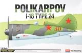 ACADEMY 1/48 Polikarpov I-16 type 24