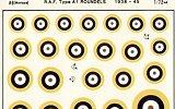 ALMARK 1/72 RAF cocardes type A1