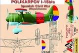AMG 1/48 Polikarpov I-15bis Guerre d'Espagne