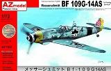 AZ-MODELS 1/72 Messerschmitt Bf109G14/AS export
