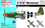 "AZ-MODELS 1/72 North-American P51B ""aces"""