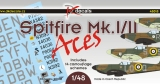 DK Decals 1/48 Supermarine Spitfire MkI/MkII as