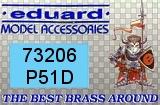 EDUARD 1/72 North-American  P51D