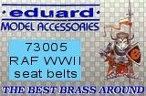 EDUARD 1/72 harnais RAF WW2