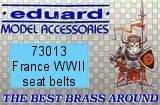 EDUARD 1/72 harnais France WW2