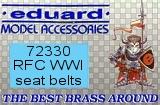 EDUARD 1/72 harnais Angleterre WW1