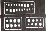 Gabarits gravure EDUARD trappes articulées