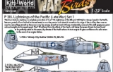 KITS WORLD 1/72 Lockheed P38L Pacific Theatre