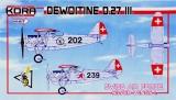 KORA 1/72 Dewoitine D27 suisse