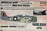 PRINTSCALE 1/72 Grumman Wildcat aces