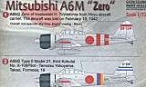 PRINTSCALE 1/72 Mitsubishi A6M2 Zéro