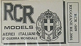 RCR MODELS 1/72 Reggiane Re2001