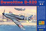 RS MODELS 1/72 Dewoitine D520