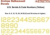 TECHMOD 1/48 USAAF codes jaunes