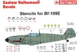 TECHMOD 1/72 Messerschmitt Bf109E stencils