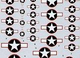 TECHMOD 1/72 USAAF cocardes à liseré rouge