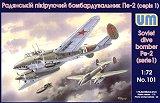 UNIMODEL 1/72 Petlyakov Pe2 début de série