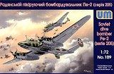 UNIMODEL 1/72 Petlyakov Pe2 série 205