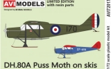 AVI-Models 1/72 De Havilland DH80A sur skis