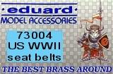 EDUARD 1/72 harnais USAAF et USN WW2