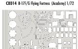 EDUARD 1/72 masques Boeing B17F/G