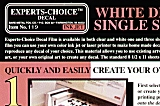 EXPERTS CHOICE Decal blanc (1 feuille)