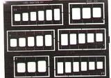 Gabarits gravure EDUARD carrés et oblongs