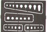 Gabarits gravure EDUARD trappes rondes, gouttes d'eau