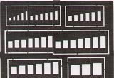 Gabarits gravure EDUARD carrés à bords nets