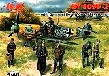 ICM 1/48 Messerschmitt Bf109F2 avec figurines