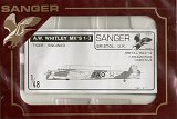 SANGER 1/48 Armstrong-Whitworth Whitley MkI