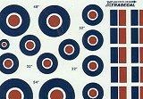 XTRADECAL 1/48 RAF cocardes et drapeaux de dérive
