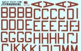 XTRADECAL 1/72 RAF lettres-codes rouges